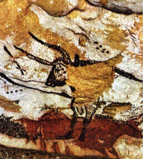 17,000 year old painting of the Taurus constellation found in the cave of Lascaux in France