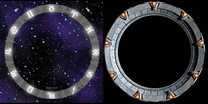 Sphinx Stargate (left) Stargate from the movie (right)