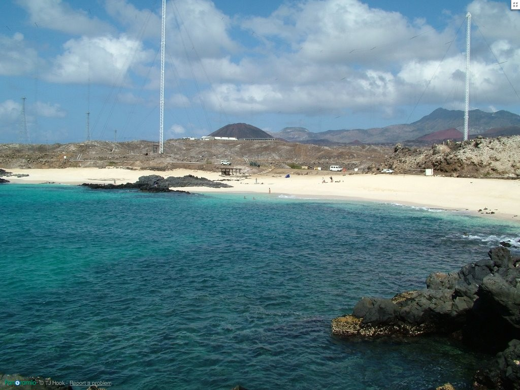 Island view of English Beach on Ascension Island.