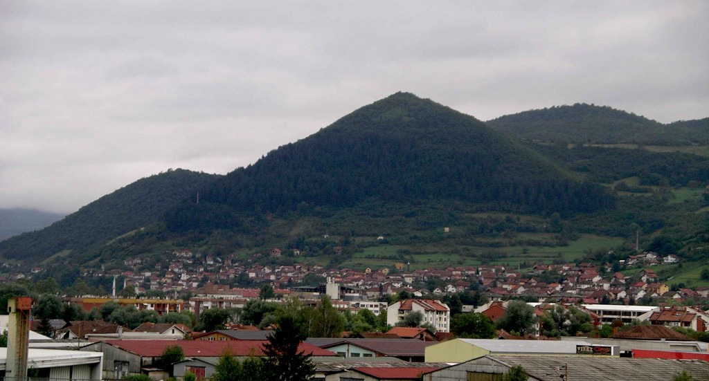 The Bosnian Pyramid of the Sun at Visoko.