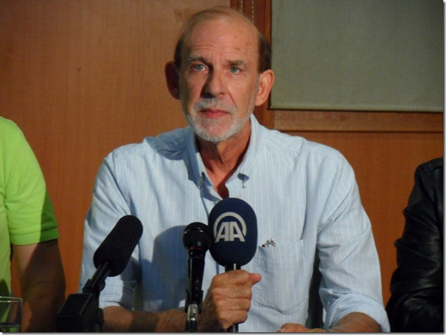 Paul LaViolette at the press conference held September 6, 2014 in Sarajevo.