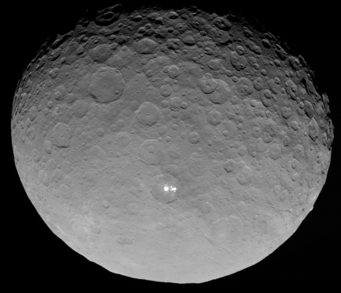 Ceres imaged from an altitude of 13,600 km