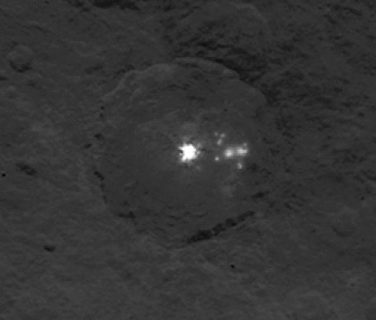Another shot of the bright spots taken by NASA on June 9th, altitude 4400 km.