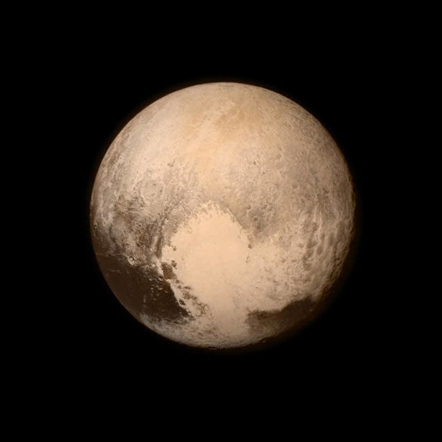 Image of Pluto taken from the New Horizon's spacecraft. (credit: NASA)