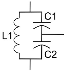tank circuit with two capacitors